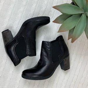 "Miz Mooz NYC black 3"" heel ankle booties size 10"